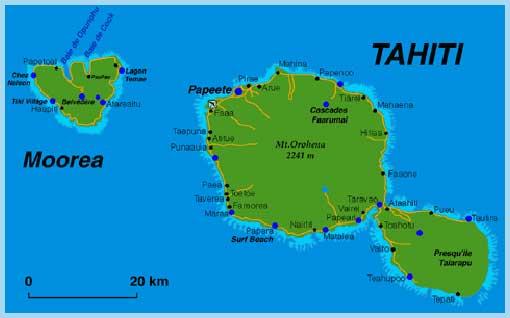 Carte Du Monde Tahiti.Julo Autour Du Monde Carte De Tahiti Et Moorea